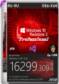 Windows 10 1709 Pro 16299.309 rs3 PIP by Lopatkin (x86-x64) (2018) {Rus}