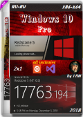 Windows 10 Pro 17763.194 RS5 RTM 2x1 by Lopatkin (x86-x64) (2018) {Rus}